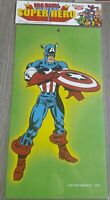 Poster Marvel super hero CAPTAIN AMERICA (3) 40X23 CM CARTONE VINTAGE 1979 MINT