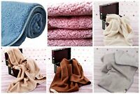 MERINO WOOL BLANKET THROW SOFA PAD BED COVER Double King 100% NATURAL ALL SIZES