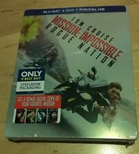 Mission: Impossible Rogue Nation Steelbook BD/DVD/HDUV Or HDiTunes Free US Ship