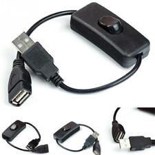 USB macho a hembra Cable de extensión extendido con interruptor de encendido/apagado Cable de sincronización