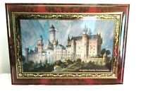 """Empty Tin With Hinged Lid Konigliches Schloss Neuschwanstein 14"""" X 10"""" X 5"""""""