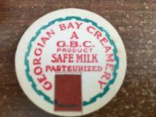 Georgian Bay Creamery Milk Bottle Cap - Parry Sound, Ontario, Canada SAFE MILK
