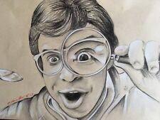 Cariño he encogido a los niños, dibujo a lápiz Original. Rick Moranis FAN-art.
