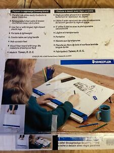 """Staedtler Parallel Straightedge Drawing Board, 18"""" X 24"""" Original Box"""