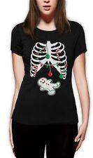 Skeleton Short Sleeve T-Shirts for Women