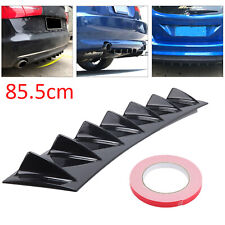 85cm Universal Shark Fin 7 Wing Lip Rear Bumper Diffuser Spoiler Gloss Black