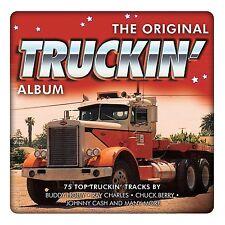 3 CD BOX ORIGINAL TRUCKIN' ALBUM HOLLY BERRY CASH CHARLES NELSON EDDY DIDDLEY