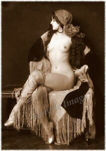 Vintage 49 1920's Erotic Female Nude Sepia Retro Art PHOTO REPRINT A4 A3 A2 size