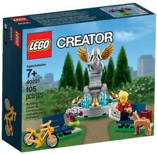 NEW Sealed Retired LEGO Creator Fountain Bicycle Statue Dog Building Play Set