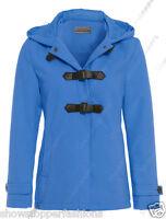 NEW Women's Winter Duffle Hood Coat Trench Jacket Size 8 10 12 14 Wool Look
