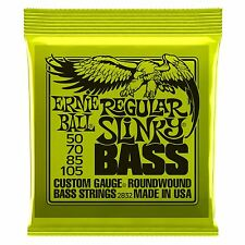 Ernie Ball Regular Slinky Nickel Wound Electric Bass Guitar Strings Gauge 50-105