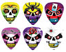 12 Pack Pearl Guitar Picks Wicked Skulls Tattoo Bullet Rose Ace Barbed Wire Pick