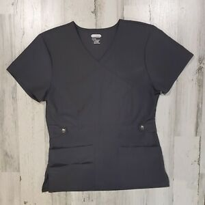 SCRUBAID - Four Way Stretch Scrub Uniform Top -  Gray - Size Small