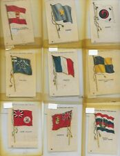 Lot of 9 Flags of the World Tobacco Silks Great Condition ! All Factory 649 Ny