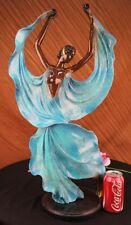 Dancer Sexy Girl Figure Flamenco Large Rare Handcrafted Bronze Sculpture Art LRG