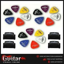 18 x Alice Guitar Picks Plectrums Mixed Gauges + 4 x Alice Rubber Pick Holders