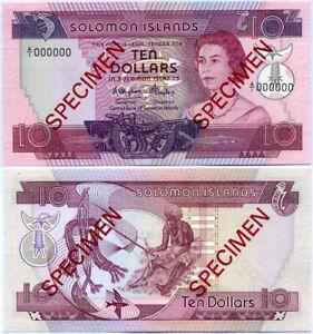 Solomon Islands 10 Dollars ND 1984 P 11 Specimen A/1 000000 UNC NR