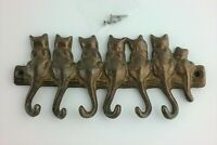 Cat Kitten Tail Key Holder Sparrow House Key Chain Wall Mount Hook Hanger Rack