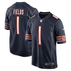 Youth Chicago Bears Justin Fields Nike Navy 2021 NFL1st Round Pick Game Jersey