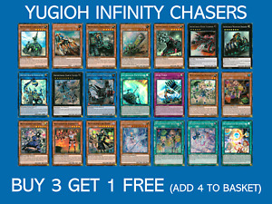 YuGiOh Infinity Chasers All Rarities - Choose your card - INCH Buy 3 Get 1 Free