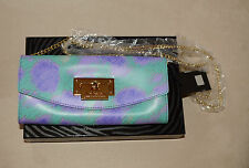 Auth Just Cavalli Wallet On  A Chain* Lilac/ Teal  *** Beautiful* NWTGS**