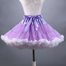 Women Adult Tutu Skirt Mesh Layers Rockabilly Swing Bubble Skirts Dancewear New