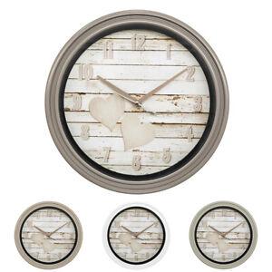 Orologio da parete muro rotondo shabby chic casa cucina salotto ufficio camera