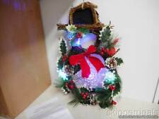DOOR WINTER SNOWMAN WITH TOP HAT LIGHTS BRAND NEW