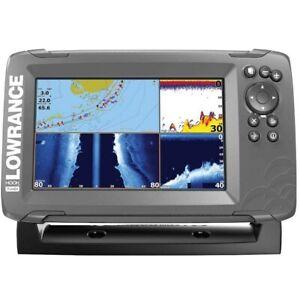 LOWRANCE Hook2-7 TripleShot Combo Sonar Fishfinder Chartplotter GPS Inland Maps