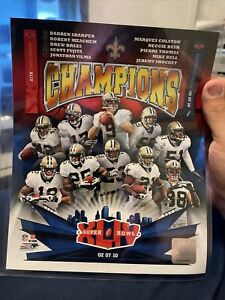 "New Orlean Saints Super Bowl XLIV Champions Photo File 8x10"""