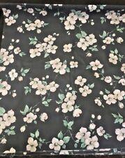 "Joan Kessler Charcol Gray Floral Print Fabric 44""x44"""