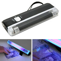 2in1 Portable Handheld UV Torch Light Blacklight Counterfeit Money Detector