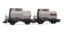 "Arnold HN6312 2er Set 2-achsige Kesselwagen ""BASF"" DB Epoche IV N 1:160 NEU OVP"