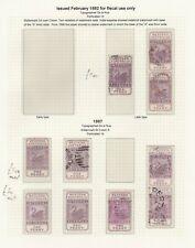 CJU27) Western Australia 1882 - 1897 Internal revenue stamps