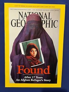 National Geographic Magazine-April 2002-Found-After 17 Years An Afghan Refugee