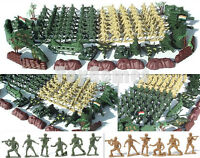 108 pcs Military Playset Plastic Toy Soldiers Army Men 6cm Figures & Accessories