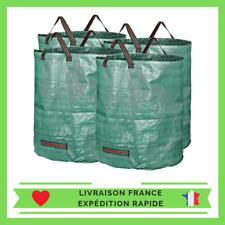 [Lot de 4] Sac pour jardin 272 litres indéchirable réutilisable feuilles jardin