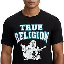True Religion Men's Two-Tone Buddha Graphic Tee T-Shirt in Black