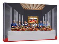 England football managers (oil paint mood) Last supper. Print or canvas print