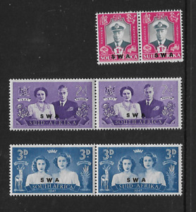 1947 South West Africa - Royal Visit - Full Set in Bilingual Pairs - MNH.