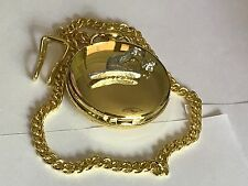 Witch Hat TG14 Pewter on a Gold Pocket Watch Quartz fob