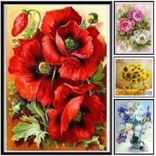 Diamond Painting Flower Cross Stitch Embroidery Mosaic Decoration Free Tools Diy