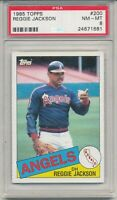 1985 Topps Reggie Jackson #200  Graded PSA 8 NM - Mt  California Angels HOF