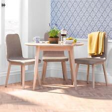Edvard Olsen oak round table. Light oak kitchen table. Quality oak furniture