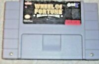 Super Nintendo game Wheel of fortune deluxe edition 1 cartridge no box