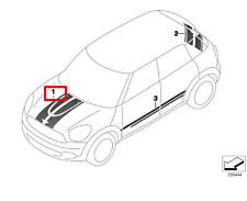 MINI Cooper COUNTRYMAN R60 Hood Decor Stripe Chili Red 51149811272 NEW GENUINE