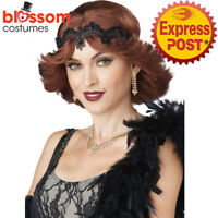 W638 Brunette Glitz & Glamour Wig Gatsby 20s Flapper Hollywood Costume Accessory
