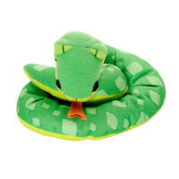 Disney Mattel Tarzan Jungle Snake Stuffed Animal Plush Bean Bag Toy 6 Inch Green