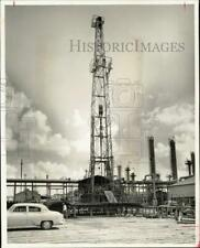 1957 Press Photo Waste disposal well at Shell Chemical's Houston plant, Texas