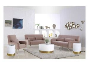 Meridian Furniture Deco White Lacquer Metal Coffee Table with Durable Gold Base